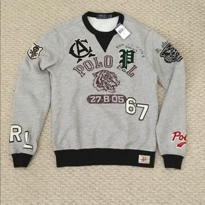 Ralph Lauren Mens Patches Sweatshirt